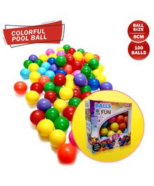 NHR Premium Quality 100 Fun Balls - Multicolour