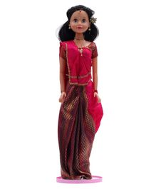 Speedage Doll In Indian Attire Brown - Height 75 cm