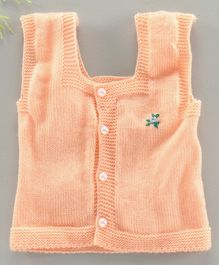 Little Angels Full Sleeves Sweater - Peach