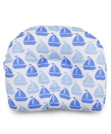 Meukebaby Newborn Pillow Boat Print - Blue