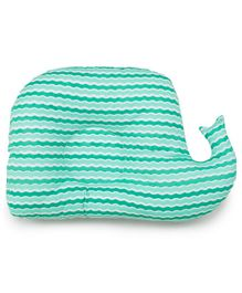 Meukebaby Newborn Pillow Sea Waves Print - Green