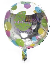 Party Anthem Baby Cart Foil Balloon For Baby Shower Decoration Multicolor - Pack Of 2