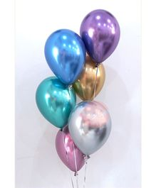 Party Anthem Metallic Latex Balloons Pack Of 25 - Multicolor