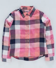 Natilene Full Sleeves Checked Shirt - Multi Color