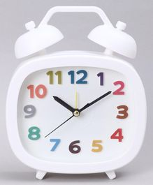 Twin Bell Alarm Clock - White