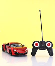 Remote Control Bonzer Die Cast Car With Led Lights - Red