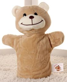 Dimpy Stuff Teddy Bear Hand Puppet Brown - Height 25 cm