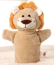 Dimpy Stuff Tiger Hand Puppet Brown - Height 25 cm