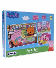 Frank Peppa Pig Jigsaw Puzzle Pack of 3 Multicolor - 180 Pieces