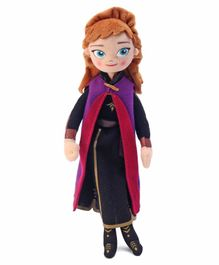 Disney Frozen II Plush Anna Doll Pink And Purple - Height 26 cm