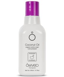 Omved Organic Coconut Extra Virgin Cold-Pressed Oil - 200 ml