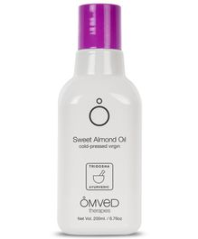 Omved Sweet Almond Cold-Pressed Virgin Oil - 200 ml