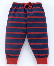 Cucumber Full Length Striped Lounge Pant - Navy Blue Red