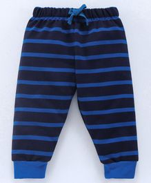 Cucumber Full Length Striped Lounge Pant - Blue