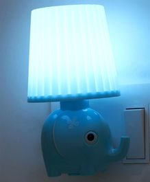 Power Saving Elephant Shape Night Lamp - Blue