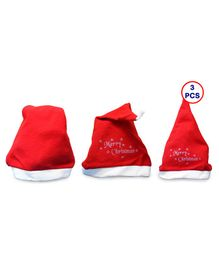 Zest 4 Toyz Merry Christmas Party Cap For Xmas Party - Pack of 3