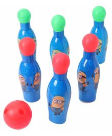 Minions Bowling Set With 6 Pins - Multicolour