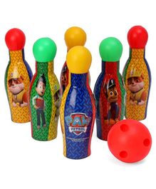 Paw Patrol Bowling Set With 6 Pins - Multicolour