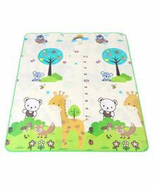 ToyMark Animal Print Reversible Educational Play Mat - Multicolour