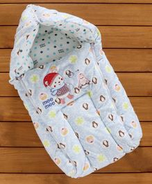 Mee Mee 100% Cotton Sleeping Bag Penguin & Baby Patch - Blue