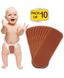 Bembika 4-Layer Cotton Nappy Inserts Pack of 10 - Brown