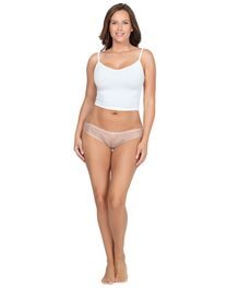 Parfait Lace Detailed Low Waist Brief Style Panties - Beige