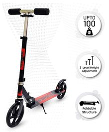 R for Rabbit Stylish Scooter With Rear Brake - Red Black