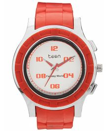 Fantasy World One Color Teen Analogue Watch - Red