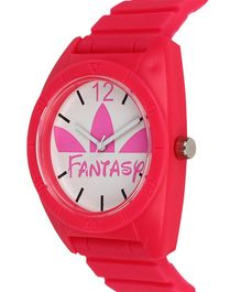 Fantasy World Silicon Strap Analogue Watch - White & Red