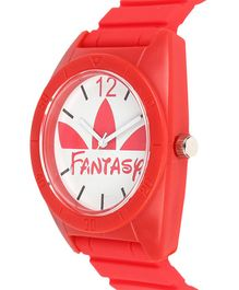 Fantasy World Round Dial Analogue Watch - White & Red