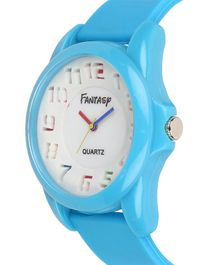 Fantasy World Silicon Strap Analogue Watch - White & Blue