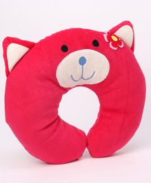 Play Toons Neck Support Pillow Kitty Design - Fuchsia