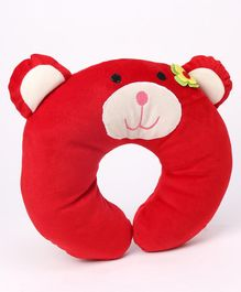 Play Toons Neck Support Pillow Teddy Design - Red
