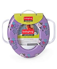 Babyhug Potty Seat With Flower Print - Purple