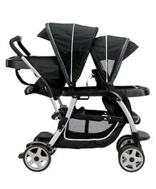 Graco Ready To Grow Click Connect Double Stroller - Black