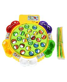 Magic Pitara Electric Fishing Toy Game With Light & Music - Multicolor