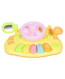 Magic Pitara Musical Steering Wheel Toy - Yellow