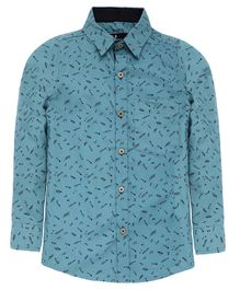 Nick&Jess Printed Full Sleeves Shirt - Green