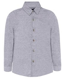 Nick&Jess Solid Full Sleeves Shirt - Grey