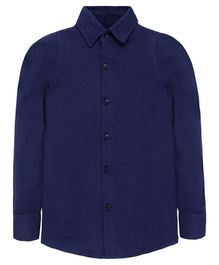 Nick&Jess Solid Full Sleeves Shirt - Dark Blue