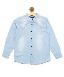 Nick&Jess Shaded Denim Full Sleeves Shirt - Blue