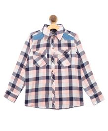 Nick&Jess Checkered Front Pocket Full Sleeves Shirt - Pink & Blue