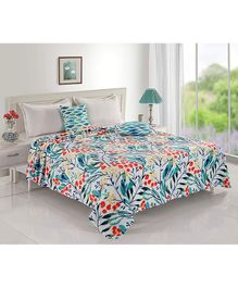 Status Double Poly Mink Blanket Floral Print - Multicolor