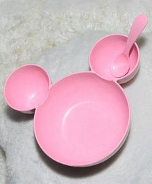 Tipy Tipy Tap Cartoon Bowl Set With Spoon - Pink