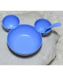 Tipy Tipy Tap Cartoon Bowl Set With Spoon - Blue