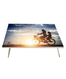 Kuchikoo Multi Purpose Foldable Bed Table Cycling - Multicolour