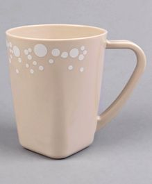 Plastic Cup Polka Dot Print Cream - 430 ml