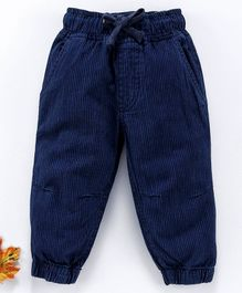 Cucumber Full Length Corduroy Jogger With Drawstring - Royal Blue