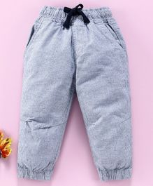 Cucumber Full Length Corduroy Jogger With Drawstring -Grey