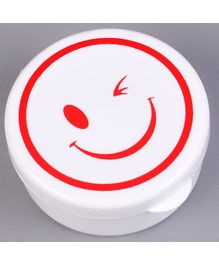 Collapsible Cup Smiley Design White - 280 ml